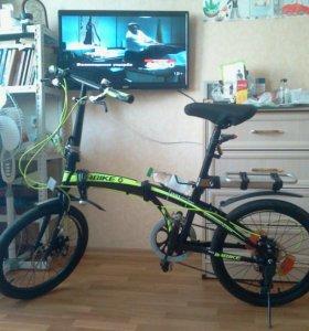 Компактный полностью складной велосипед in-bike