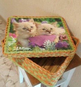 Плетенная коробка