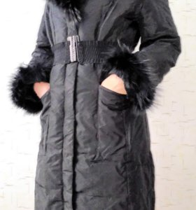 Пуховик-пальто, размер 42-44