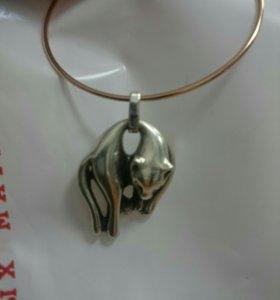 Серебряная подвеска Дикая кошка