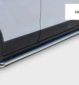 Защита бампера пороги Chevrolet Captiva 2012