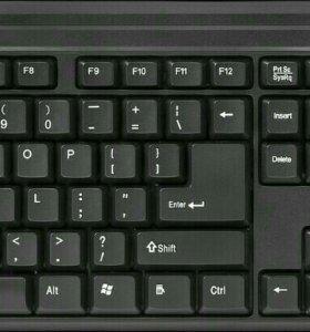 Беспроводная мышка и клавиатура.