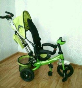 Новый Трехколесный велосипед с родительской ручкой