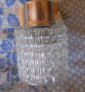 ретро-светильник бра из стекла
