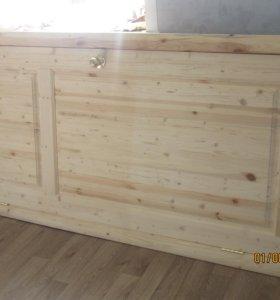 Двери входные деревянные в коробе
