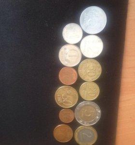 Монеты Литва от 1991-2015г