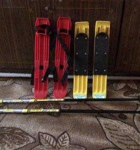 Лыжи- палки 700 за всё