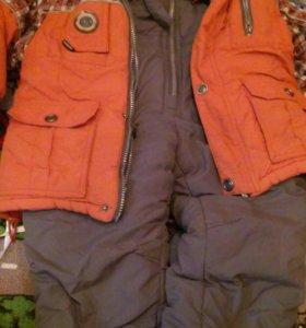 Зимний костюм очень теплый 104-116
