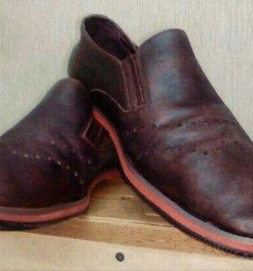 Кожаный туфли (нубук)