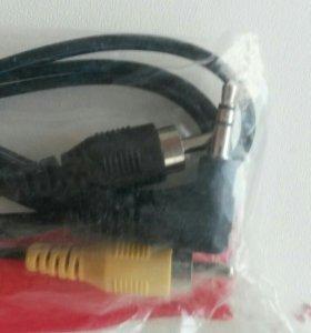 Аудио кабель, вход 3.5 джек, выход тюльпаны