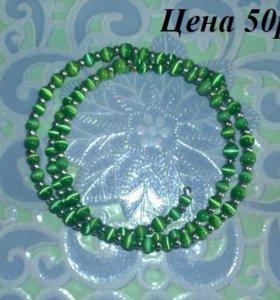 браслет, ожерелье и серьги