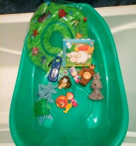 Ванна+термометр+круг+игрушки(цена за все)