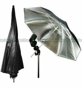 Зонт серебристый на отражение 83см.