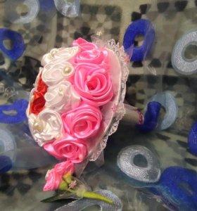 Свадебный букет невесты, бутоньерка
