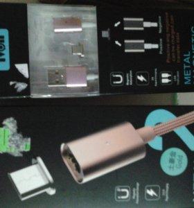 Магнитный кабель микро usb