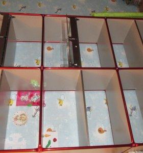 Шкаф металлический с выдвежными ящиками