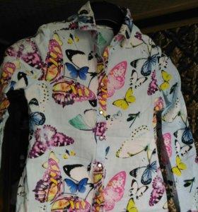 Рубашка на девочку рост 128