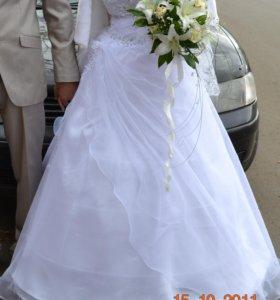 Свадебное платье 44-46 размер