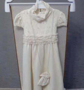 Платье для девочки с сумочкой.