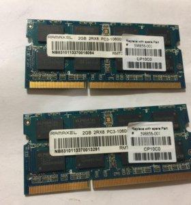 Оперативная паять DDR 3 для ноутбука 4GB 2X2