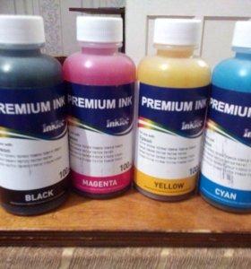 Чернила для принтеров и мфу epson (4 цвета)