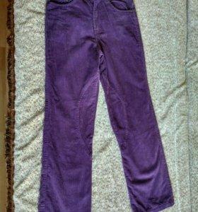 Вельветовые штаны на подкладке