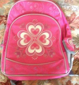 Детский школьный ранец с подушкой для спины