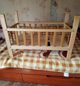 Кроватка для куклы самодельная