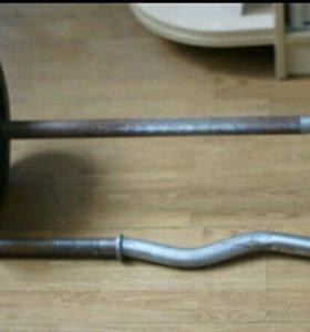 Железо: грифы,гантели,блины