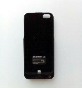 Аккумулятор-чехол для Iphone 5/5s(чёрный) 4200 мАч
