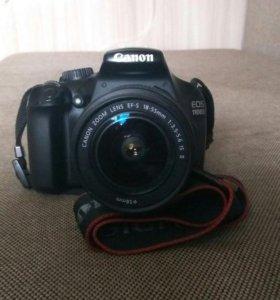 Canon EOS 1100D + kit объектив + аккумулятор