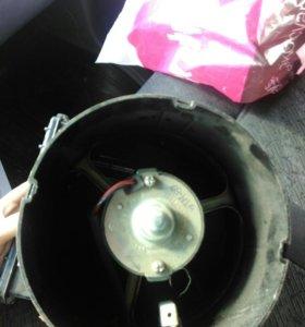Вентилятор печки в сборе с радиатором Газель