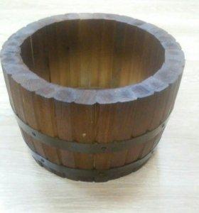 Кашпо и Бочка из ангарской сосны дерево
