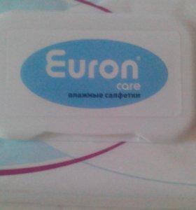 Влажные салфетки Euron Care. 64 штуки.