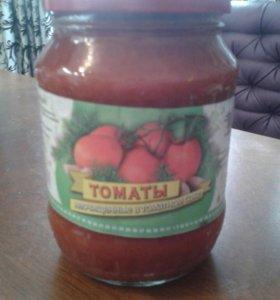 Томаты неочищенные в томатном соке.