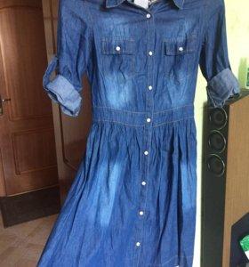 Джинсовое платье новое