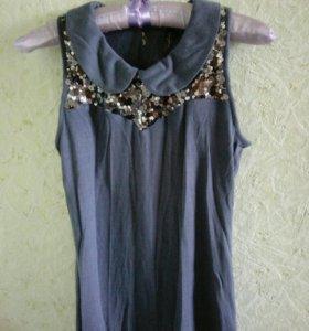 Трикотажная блуза с пайетками