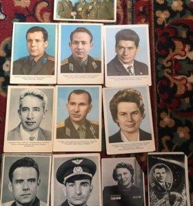 Колекционные открытки космонавты 100 рублей/штука