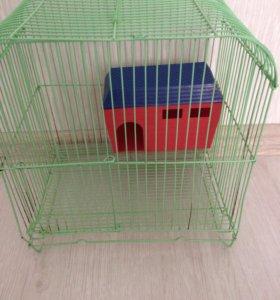 Клетка для хомячка с домиком