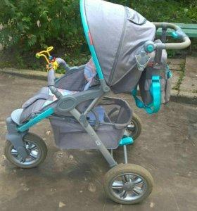 Happy Baby Neon Sport Blue коляска