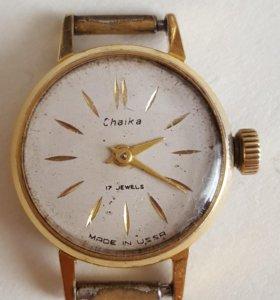 Часы Чайка женские позолоченные