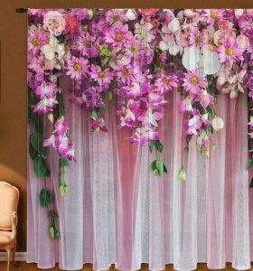 Фототюль Ламбрекен из цветов