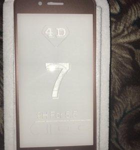 4D стекло, на айфон 7+