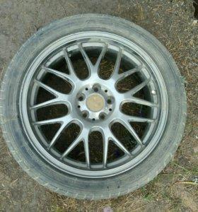 Комплект шин на красивом литье. Продам или обмен