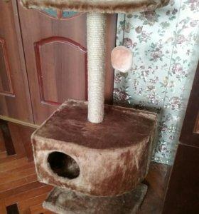 Домик для кошки (кота) с когтеточкой
