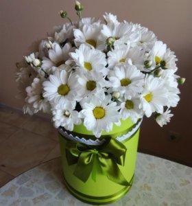 Букет хризантем-ромашек