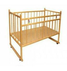 Детская кроватка-люлька Торг !