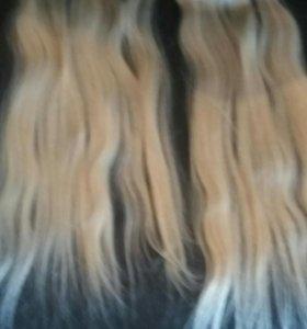 Накладные волосы натуральные