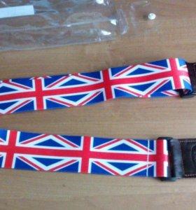 """Ремень для гитары """"Флаг Великобритании"""""""
