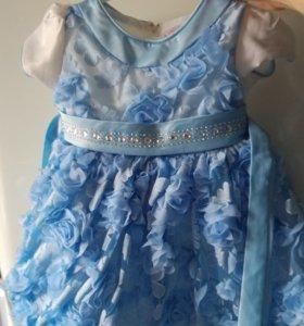 Платье нарядное 80